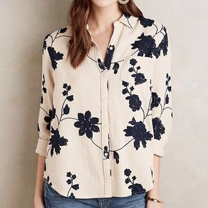 Anthropologie Isabella Sinclair Embroidered Top